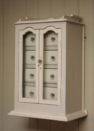 Painted Collectors Wall Cabinet, English c.1900 (1 of 8)