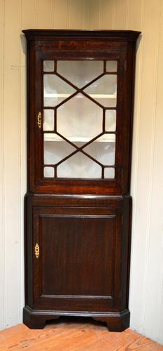 Oak Corner Cabinet, English c.1890 (1 of 1)