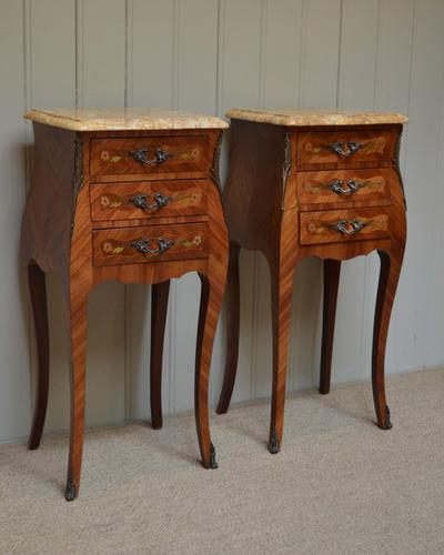 Pair of French Bedside Cabinets C.1920 (1 of 1)