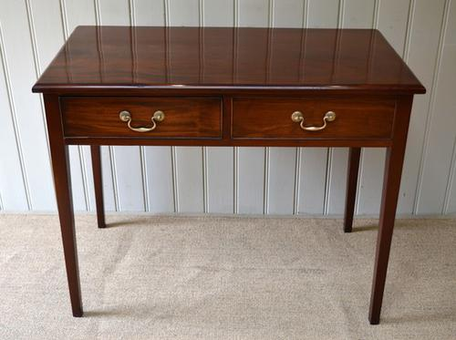 Edwardian Solid Mahogany Side Table, English c.1910 (1 of 1)