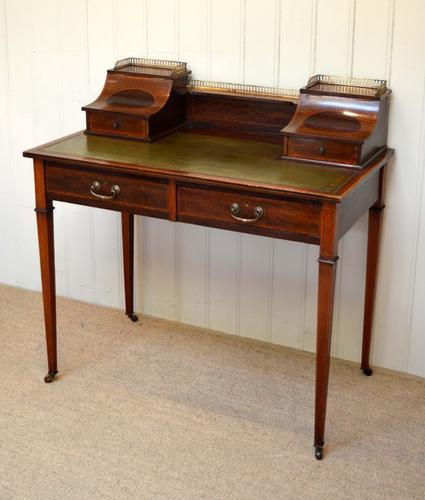 Mahogany Inlaid Writing Desk, England c.1900 (1 of 1)