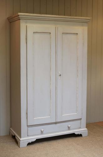 Late 19th Century Painted Continental Two Door Wardrobe, East Europe c.1890 (1 of 1)