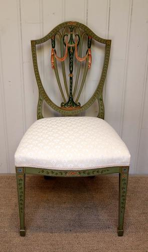 Painted Shield Back Chair, English c.1900 (1 of 1)