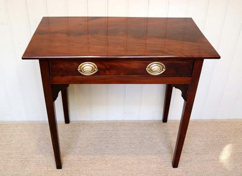 Regency Solid Mahogany Side Table, English c.1820 (1 of 1)