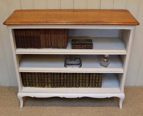 French Painted Oak Open Bookcase c.1910 (1 of 1)
