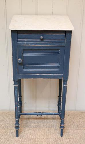 French Painted Marble Top Pot Cupboard c.1900 (1 of 1)