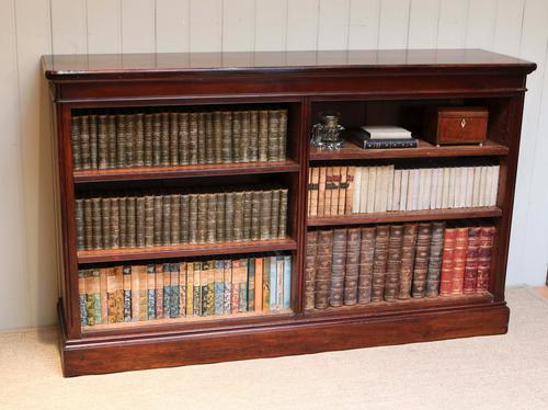 Victorian Low Open Mahogany Antique Bookcase (1 of 1)