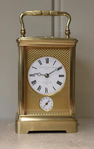 Fine Striking Carriage Clock by Drocourt, France c.1870 (1 of 1)