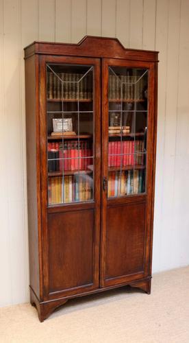 Oak Art Deco Cabinet Bookcase c.1920 (1 of 1)