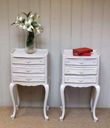 Pair of Painted Bedside Cabinets c.1920 (1 of 1)