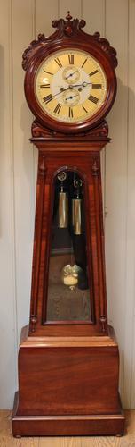 Scottish Drumhead Longcase Clock Scotland c.1850 (1 of 1)