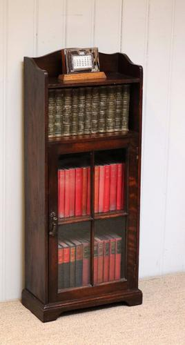Small Oak Part Glazed Bookcase c.1920 (1 of 1)