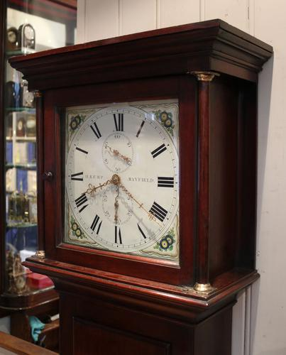 Small Mahogany Cottage Longcase Clock, England c.1840 (1 of 1)