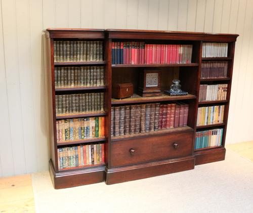 Large Victorian Mahogany Open Bookcase (1 of 1)