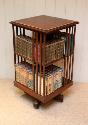 Edwardian Inlaid Mahogany Revolving Bookcase (1 of 1)