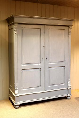 Large Painted Two Door Wardrobe c.1890 (1 of 1)