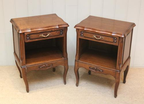 Pair of Oak Low Bedside Cabinets c.1920 (1 of 1)
