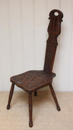 Welsh Oak Spinning Chair (1 of 1)