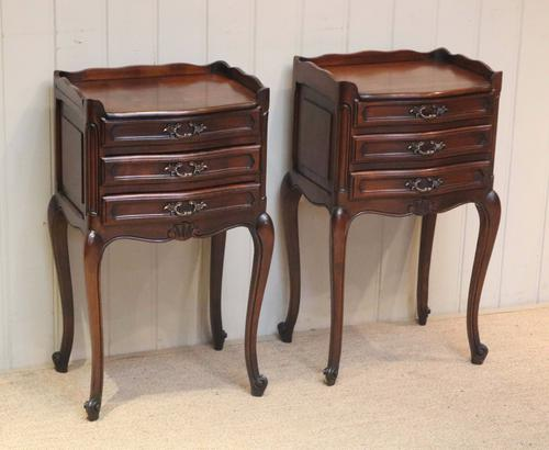 Pair of French Cherry Wood Bedside Cabinets (1 of 1)