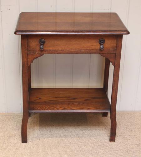 Low Oak Side Table (1 of 1)