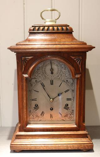 Oak Westminster Chime Bracket Clock, Germany c.1910 (1 of 1)