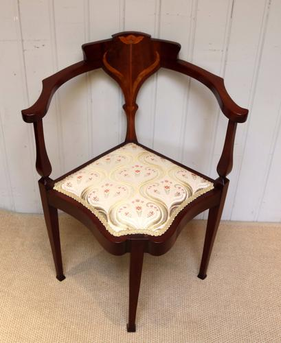 Mahogany Art Nouveau Corner Chair (1 of 1)