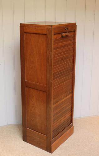 Single Tambour Front Filing Cabinet c.1920 (1 of 1)