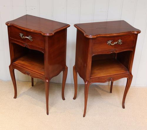 Pair of Cherrywood Bedside Cabinets c.1910 (1 of 1)