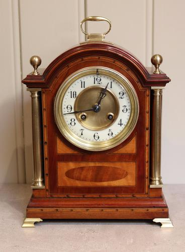 Mahogany & Satinwood Mantel Clock (England & France, c.1905) (1 of 1)
