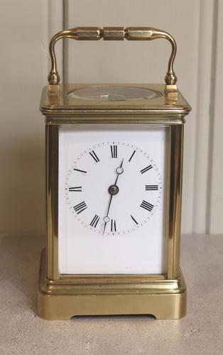 Large Drocourt Carriage Clock in Case (France, 1878) (1 of 1)