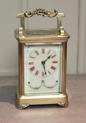 French Timepiece Carriage Clock with Red Numerals c.1890 (1 of 1)