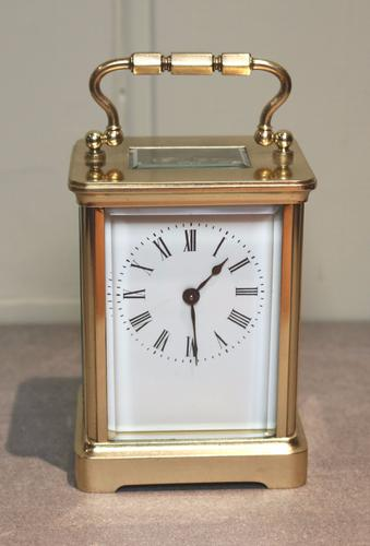 French Timepiece Carriage Clock with Case c.1890 (1 of 1)