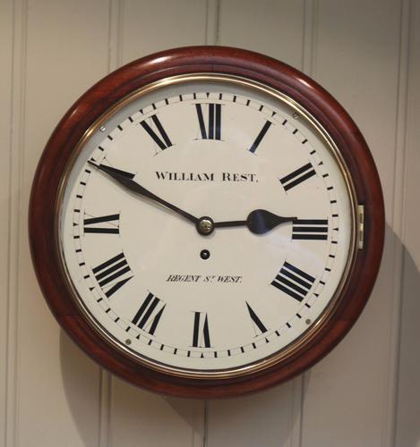 Mahogany Fusee Dial Clock, England c.1880 (1 of 1)