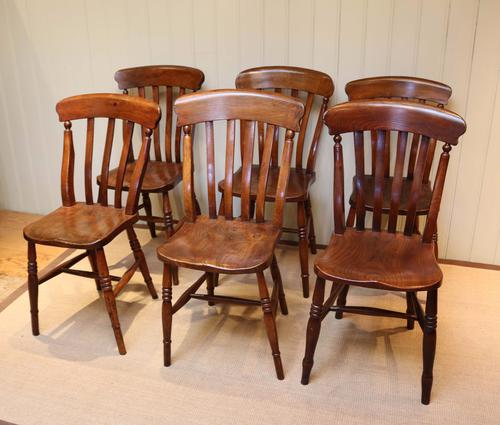 Matched Set of Six Beech and Elm Windsor Chairs (1 of 1)