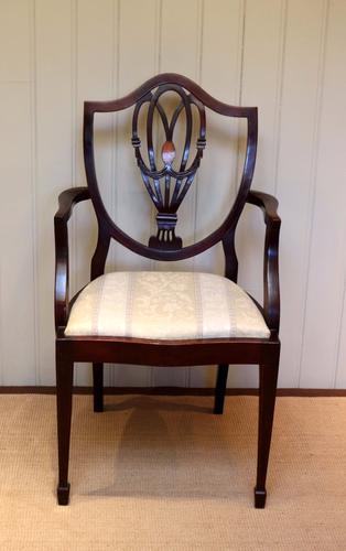 Edwardian Mahogany Shield Back Carver Chair (1 of 1)