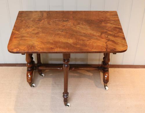 19th Century Burr Walnut Sutherland Table (1 of 1)