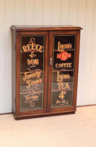 Mahogany Two Door Shop Display Cabinet Bookcase C.1920 (1 of 1)