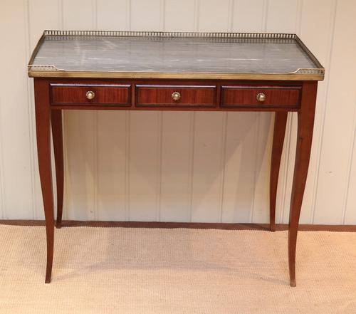 French Mahogany Marble Top Desk c.1900 (1 of 1)