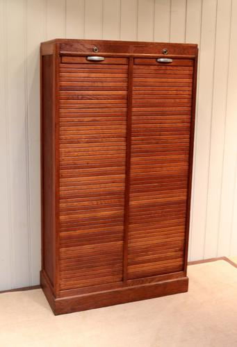 French Double Tambour Front Filing Cabinet c.1920 (1 of 1)