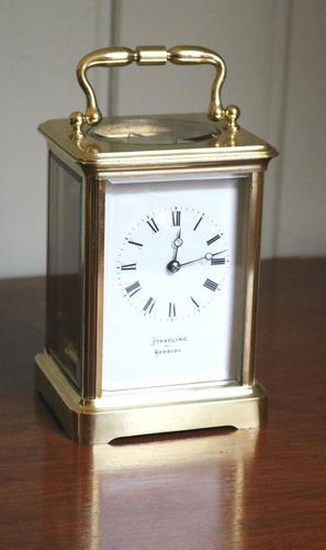 Large French Timepiece Brass Carriage Clock c.1870 (1 of 1)