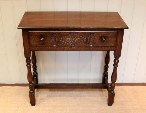 Oak Side Table c.1920 (1 of 1)