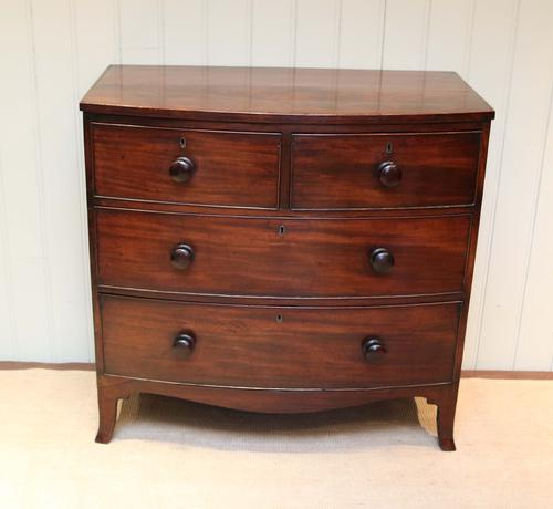 Bow Front Mahogany Chest of Drawers c.1820 (1 of 1)