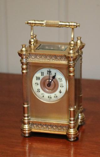 Edwardian Decorative Timepiece Carriage Clock, France c.1905 (1 of 1)