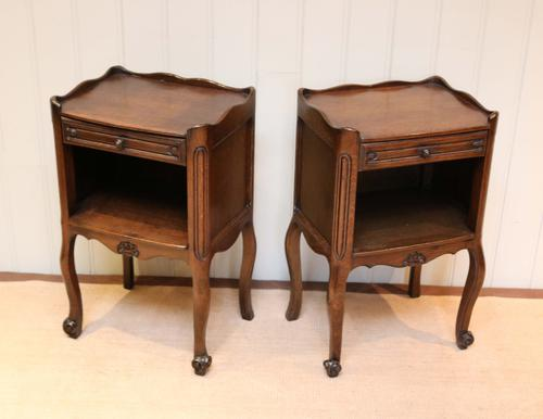 Pair of French Oak Bedside Cabinets c.1920 (1 of 1)