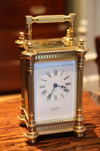 Decorative Timepiece Carriage Clock with White Enamel Dial, France c.1900 (1 of 1)