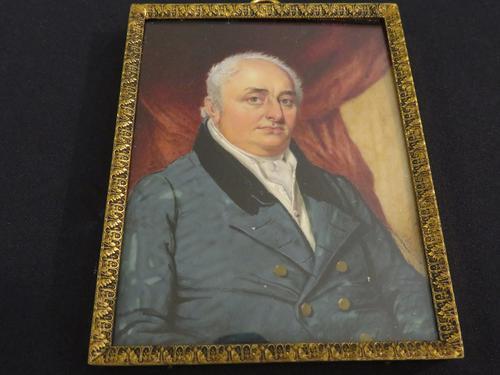 Miniature Portrait Georgian Gentleman c.1790 (1 of 5)