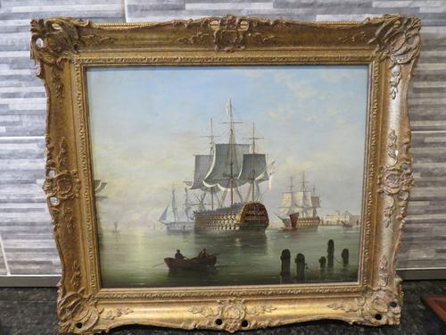 Marine Painting by Michael Matthews 'Off Malta' (1 of 7)