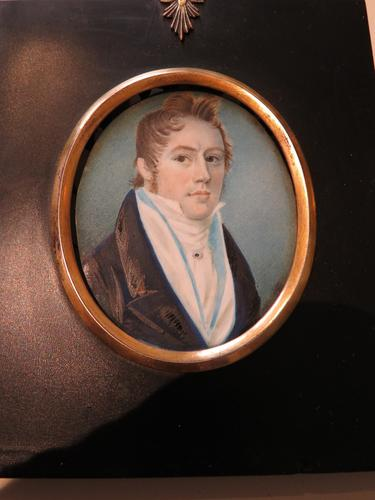 Hand Painted Miniature Portrait Young Geogian Gentleman (1 of 6)