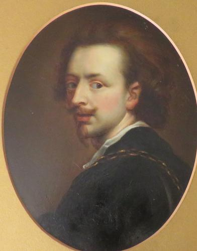 18th Century Oil on Board Portrait Anthony Van Dyck (1 of 5)