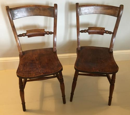 Pair of Rope Back Chairs c.1870 (1 of 4)